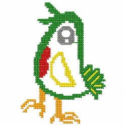 Colorful Bird Cross Stitch embroidery design