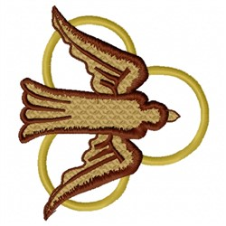 Dove with Ring embroidery design