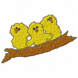 Chicks on a Branch embroidery design