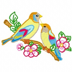 Bird Branch embroidery design