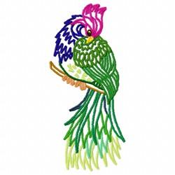 Plume Bird embroidery design