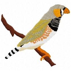 Zebra Finch embroidery design