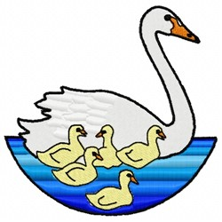 Swan & Gaggle embroidery design