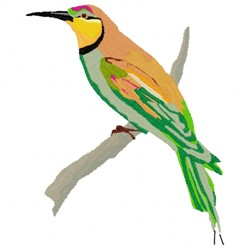 Bee Eater Bird embroidery design