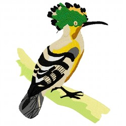 Hoopoe embroidery design