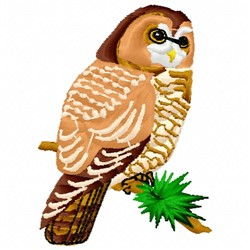 Barred Owl embroidery design