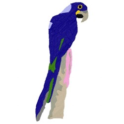 Hyacinth Macaw embroidery design
