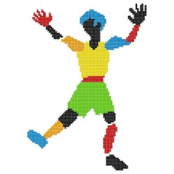 Dancing Guy embroidery design