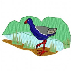 Pukeko embroidery design