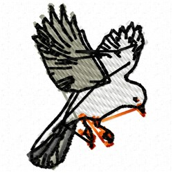 Flying Seagull embroidery design