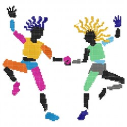Two Dancers embroidery design