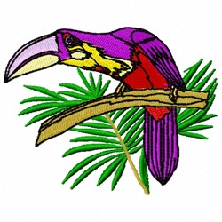 Toucan on a Branch embroidery design