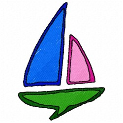 Sailboat Pattern embroidery design