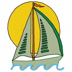 Sailboat in Sunset embroidery design