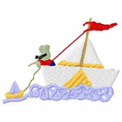 Sailing Mouse embroidery design