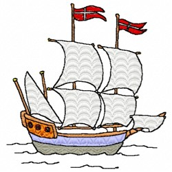 Pirate Ship embroidery design
