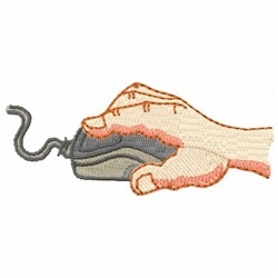Hand & Computer Mouse embroidery design