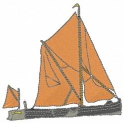 Raft Boat embroidery design