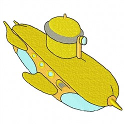 Yellow Submarine embroidery design