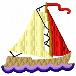 Sail Boat embroidery design