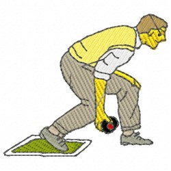 Lawn Bowler embroidery design