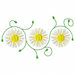 Daisy Swirls embroidery design