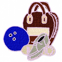 Bowling Bag embroidery design
