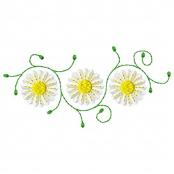 Swirl Daisies   embroidery design