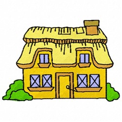 Cottage embroidery design
