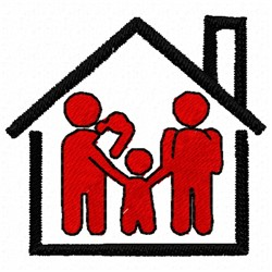 Family House embroidery design
