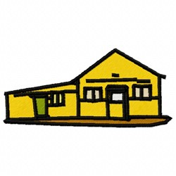 Yellow House embroidery design
