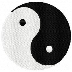 Yin Yang embroidery design