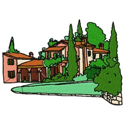 Home In Trees embroidery design