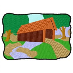 Covered Bridge embroidery design