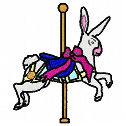 Carousel Bunny embroidery design