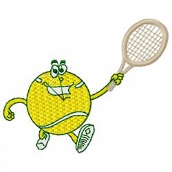 Humorous Tennis Ball embroidery design