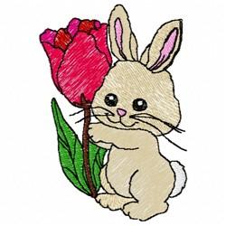 Tulip Bunny embroidery design