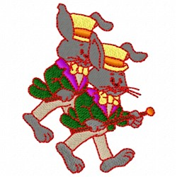 Gentlemen Rabbits embroidery design