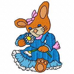 Daisy Rabbit embroidery design
