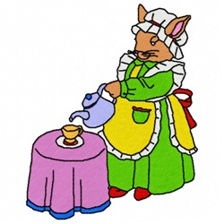 Tea Bunny embroidery design