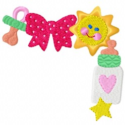 Baby Bottle Border embroidery design
