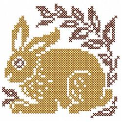 Bunny Cross Stitch embroidery design