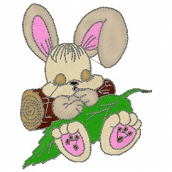 Sleeping Bunny embroidery design