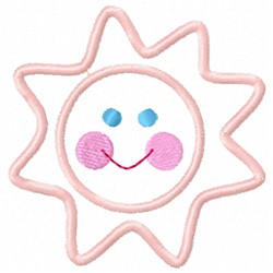 Sun Face embroidery design