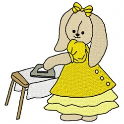 Ironing Bunny embroidery design