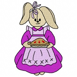 Pie Bunny embroidery design
