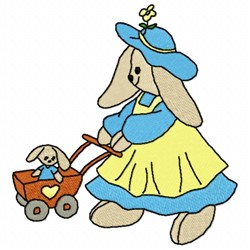 Bunny Mother embroidery design