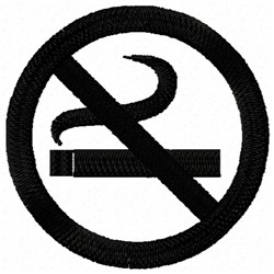 No Smoking embroidery design