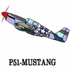 P51-Mustang embroidery design