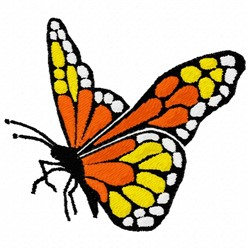 Walking Butterfly embroidery design